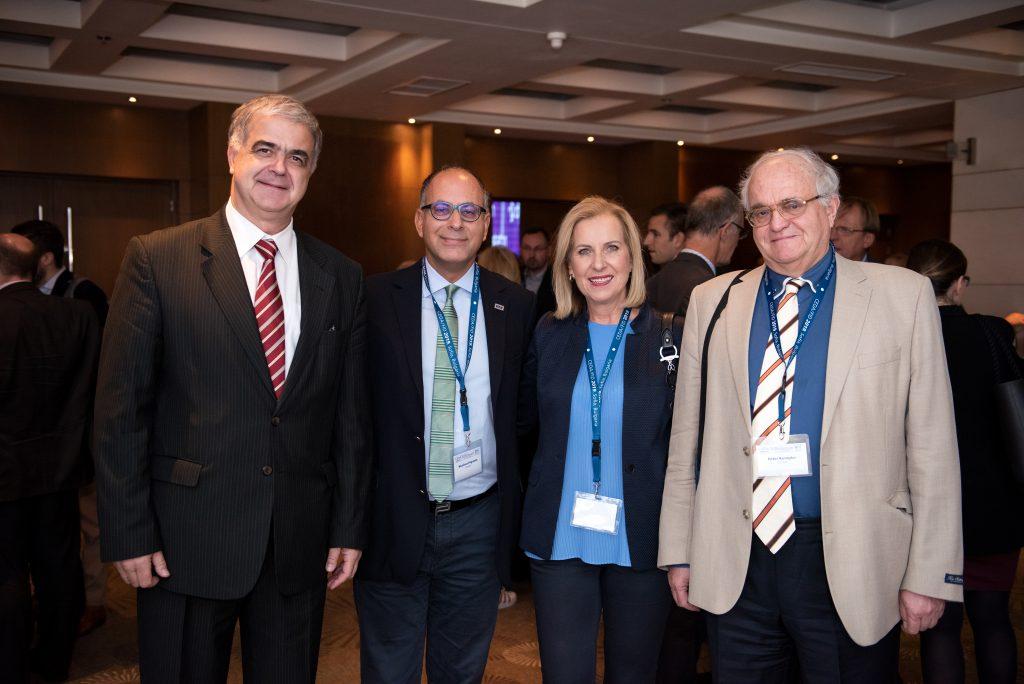 Prof. Z. Kamenov (Bulgaria), Congress President 2019; Prof. N. Papanas (Greece); Prof. E. Hatziagelaki (Greece), CEDA Vice President; Prof. P. Kempler (Hungary), Congress President 2021